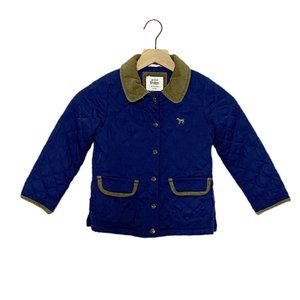 Mini Boden Navy Blue Quilted Lined Jacket